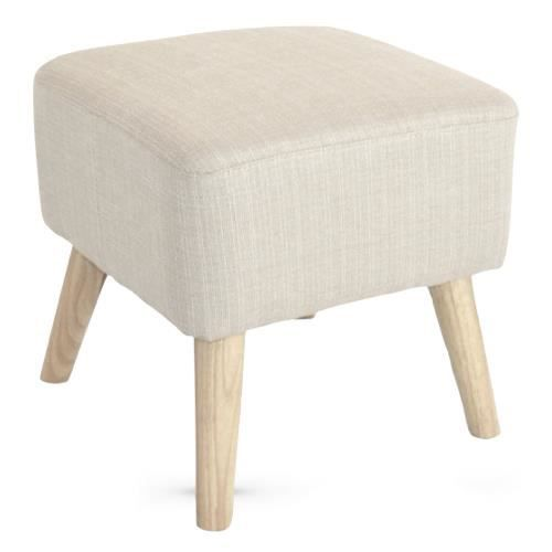 pouf repose pieds design scandinave lupio beige 40cm achat vente pouf poire soldes d s. Black Bedroom Furniture Sets. Home Design Ideas