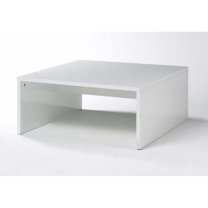 table basse laqu e blanche box achat vente table. Black Bedroom Furniture Sets. Home Design Ideas