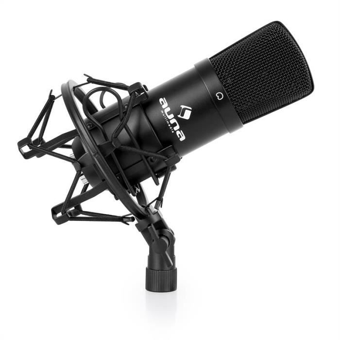 auna mic 900b micro condensateur usb pour utilisation studio avec suspension capsule 16 mm. Black Bedroom Furniture Sets. Home Design Ideas
