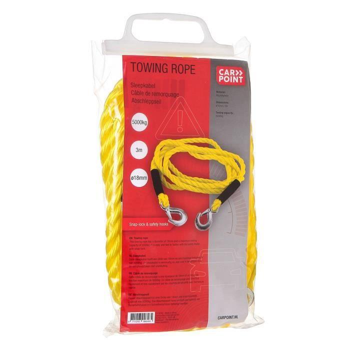 Emballage en Sac Carpoint 0178723 C/âble Remorquage 18Mm 5000Kg