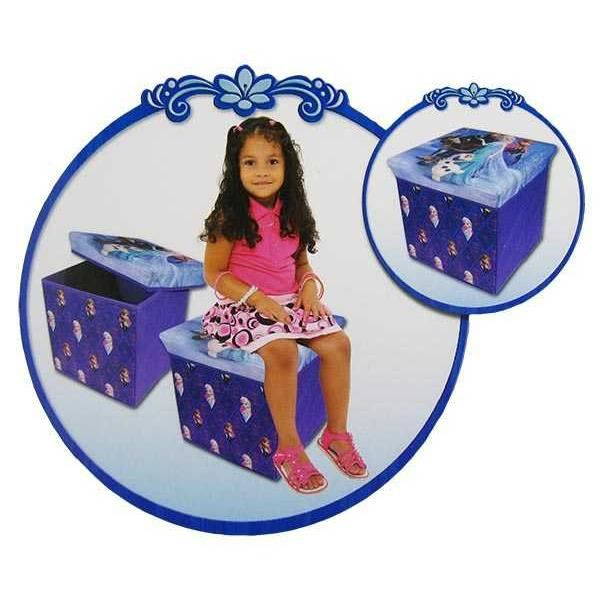 pouf de rangement la reine des neiges frozen violet. Black Bedroom Furniture Sets. Home Design Ideas