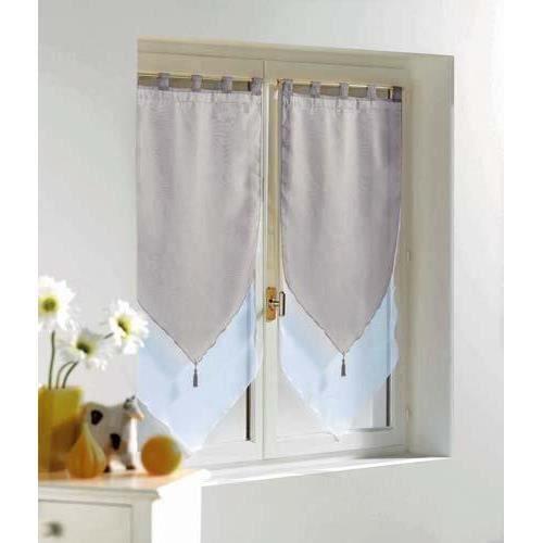 Douceur dInt/érieur Paire Pompon Voile Sable Lissea Polyester Blanc 160 x 60 x 160 cm