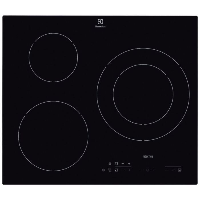 electrolux e6113hik table de cuisson induction 3 zones 7200w l56 x p49cm rev tement