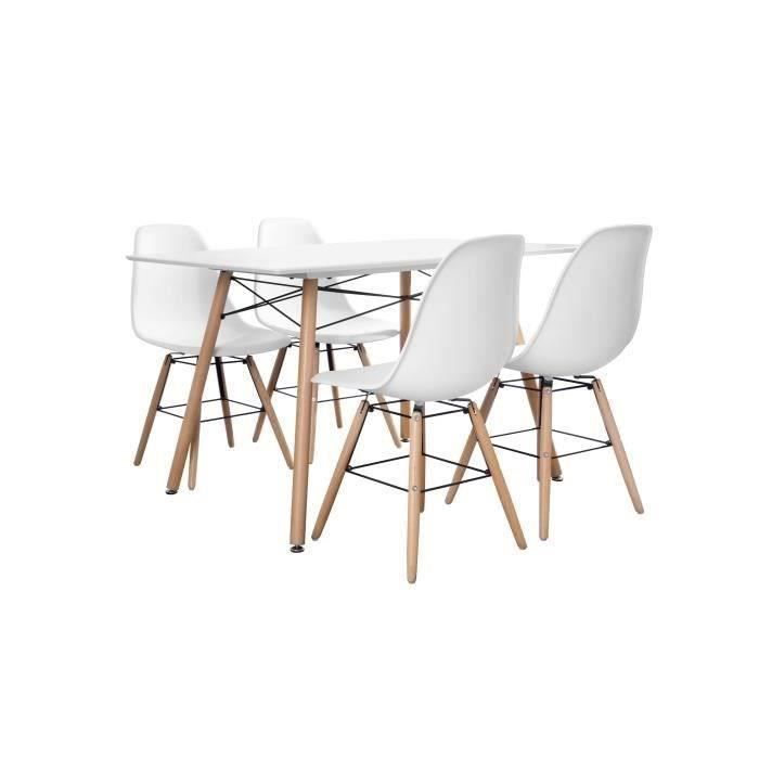 Ensemble Table Et Chaise Scandinave 6 Personnes