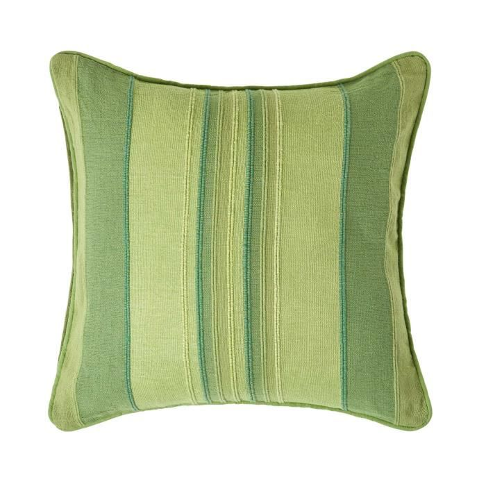 coussin d houssable rayures vert 60 x 60 cm achat. Black Bedroom Furniture Sets. Home Design Ideas
