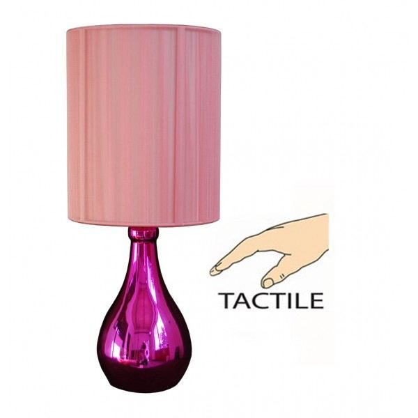 lampe tactile touch rose achat vente lampe tactile. Black Bedroom Furniture Sets. Home Design Ideas