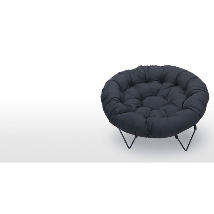 waterlily fauteuil pliable noir achat vente fauteuil noir cdiscount. Black Bedroom Furniture Sets. Home Design Ideas