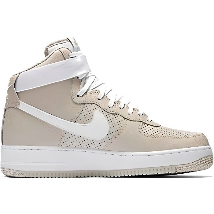 Baskets montantes air force 1 en cuir Nike Gris taille 14 US