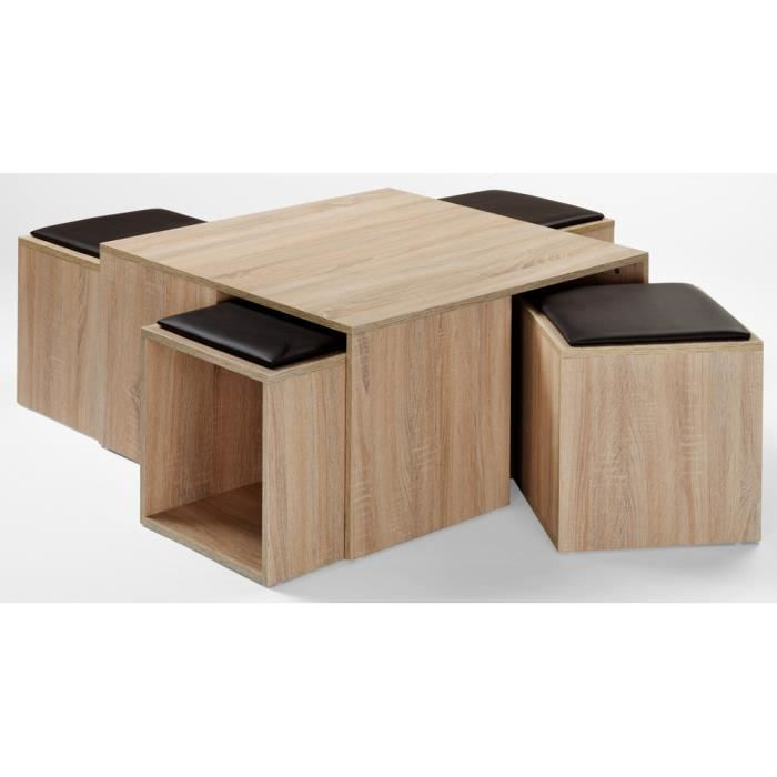 Table basse maddy coloris sonoma ch ne clair a achat vente table bass - Table and co vente en ligne ...