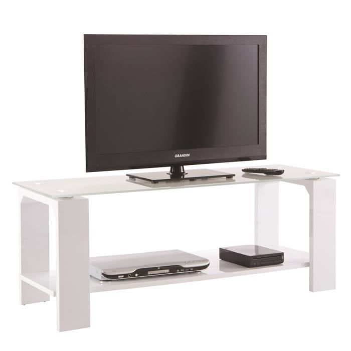 Banc tv swithome bercy blanc achat vente meuble tv for Banc tele blanc
