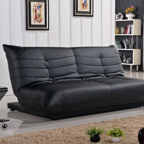 clic clac shamu design cuir synth noir achat vente. Black Bedroom Furniture Sets. Home Design Ideas