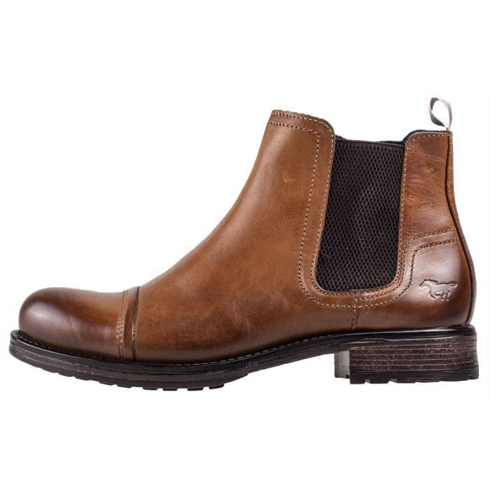 Boot Bottes Chelsea 44 EU Mustang Ankle Hommes Cognac RnxAZS