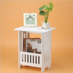 TABLE BASSE Table basse carrée moderne en bois--Table basse Sc