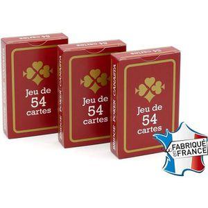 CARTES DE JEU FRANCE CARTES - Jeu de 54 Cartes - Gauloise Rouge