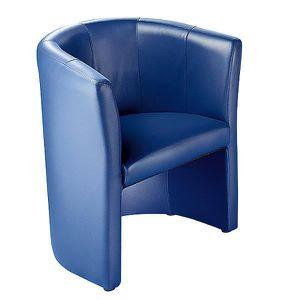 FAUTEUIL Fauteuil club - habillage en Softex bleu foncé - C