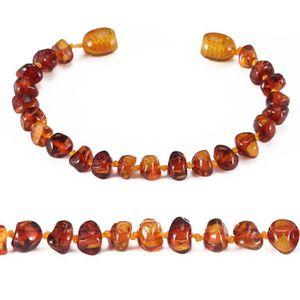 COLLIER AMBRE bracelet d'ambre bébé(Cognac)(14cm) - Forfait simp