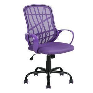 CHAISE DE BUREAU Homy Casa Chaise de bureau avec Roulettes en PU -