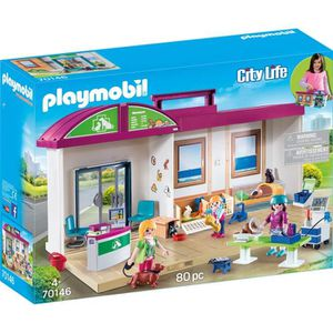 UNIVERS MINIATURE PLAYMOBIL 70146 - City Life - Clinique vétérinaire