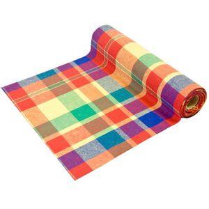 CHEMIN DE TABLE JETABLE Chemin de table Madras multicolore 28cm x 4m (x1)