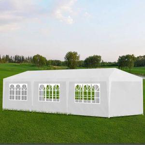 TONNELLE - BARNUM Tonnelle Pavillon de jardin blanc 3x9m