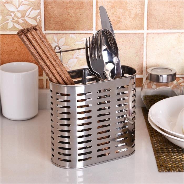 ustensiles de cuisine boîte de rangement multifonctionnel tube acier inoxydable des baguettes cage