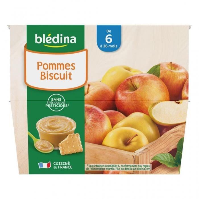 Blédina Pommes Mangues (de 6 à 36 mois) par 8 pots de 100g (lot de 4 soit 32 pots)
