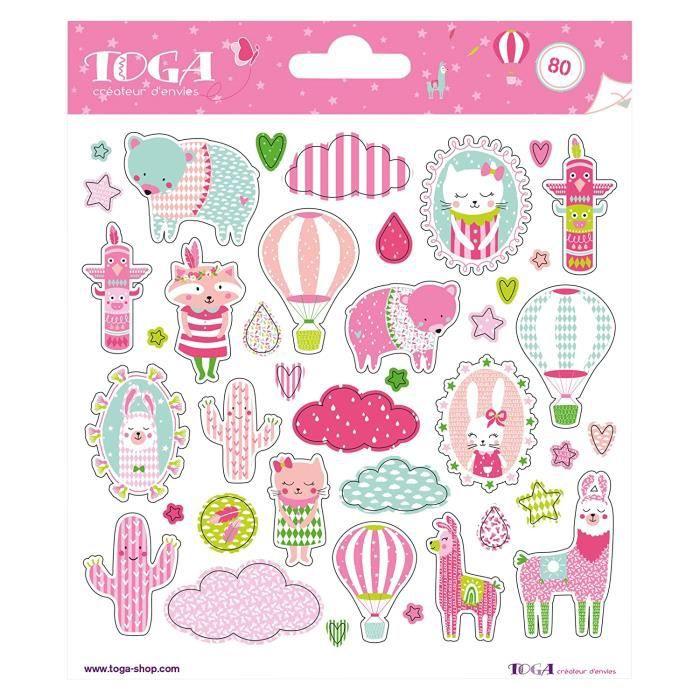 Embellissements pour scrapbooking Toga naissance STF105, - Leonard & Josephine Planches de Stickers, Autre, Multicolore, 25348