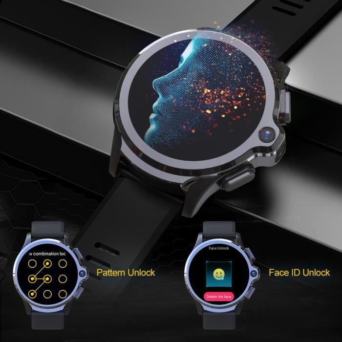 Nouveau 2020 KOSPET Prime SE 1GB 16GB montre intelligente pour hommes 1260mAh 1.6 -caméra Face ID 4G Android Smartwatch téléphone GP