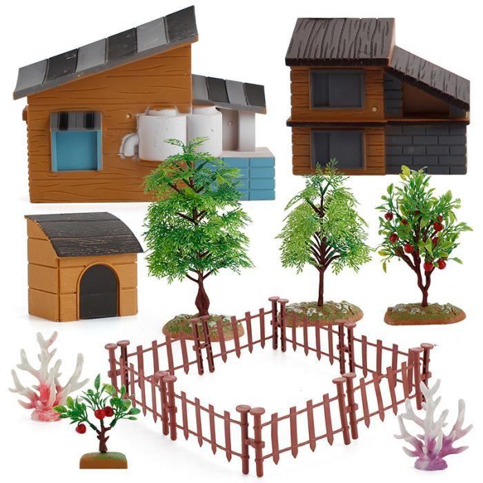 Simulation ferme Ranch bricolage assemblage scène modèle belle éducative enfants jouet ferme modèles maison clôture accessoires