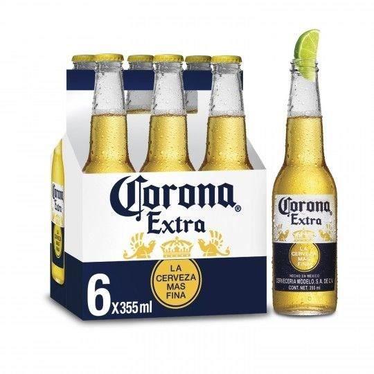 Corona Extra - Bière Blonde -  Pack de 6 x 35,5 cl