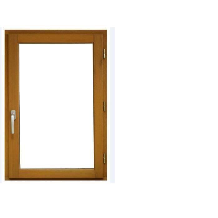 Fenêtre 1 vantail en bois exotique Hauteur 125 X Largeur 80 TIRANT DROITE (cotes tableau)