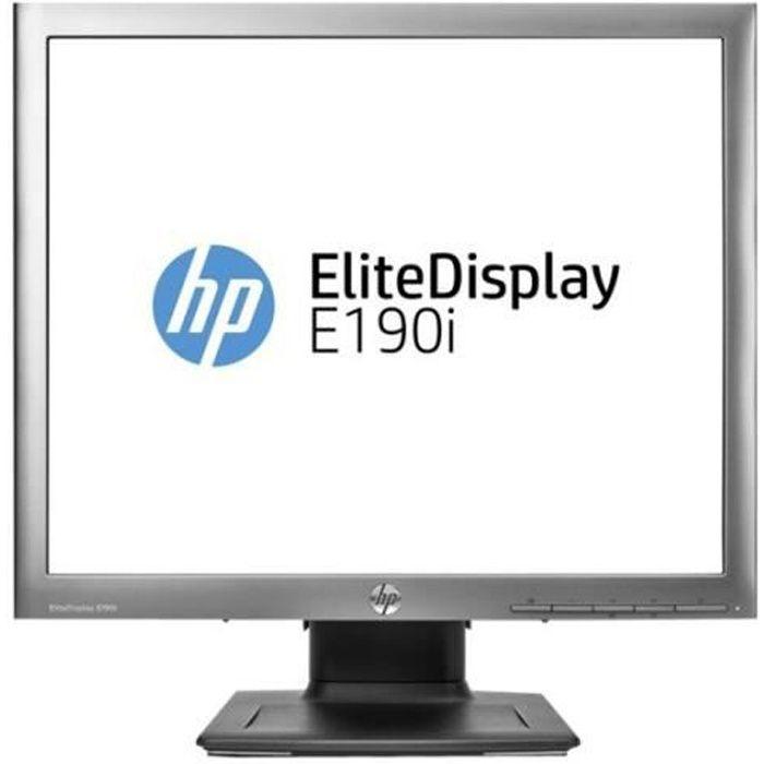 HP EliteDisplay E190i Écran LED 18.9- (18.9- visualisable) 1280 x 1024 IPS 250 cd-m² 1000:1 8 ms DVI-D, VGA, DisplayPort noir