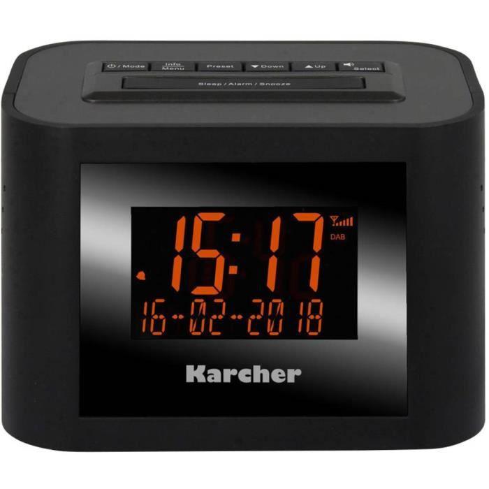 Radio-réveil FM Karcher DAB 2420 noir