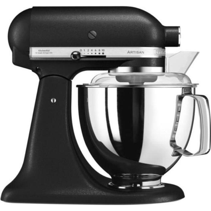 Kitchenaid - robot sur socle 4,8l 300w truffe noir - 5ksm175psebk