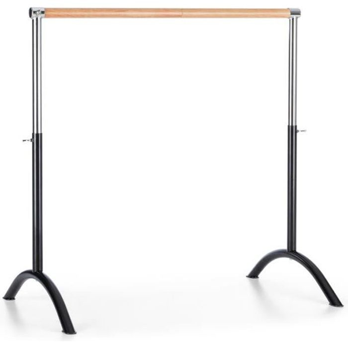 Klarfit Bar Lerina Barre de danse classique portable - Hauteur réglable 110x113cm - noir