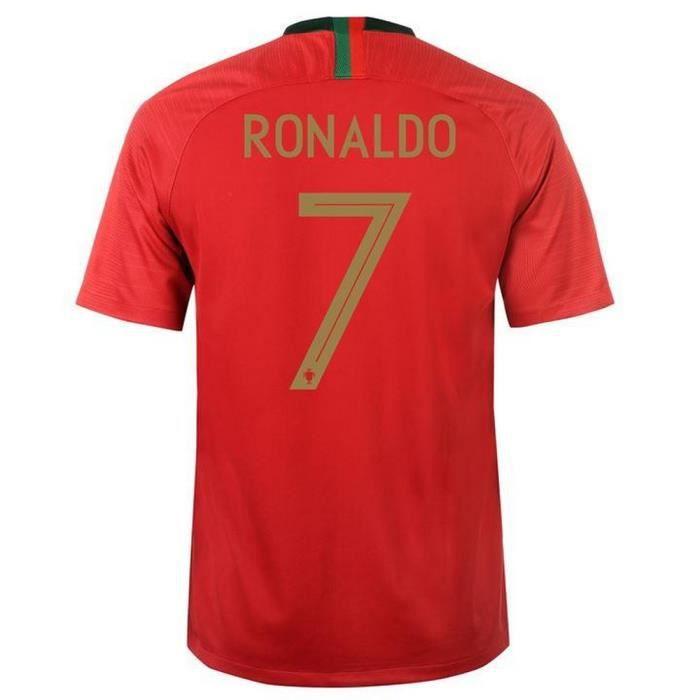 Maillot Homme Nike Portugal Domicile Coupe du Monde de Football 2018 Flocage Officiel Ronaldo Numéro 7