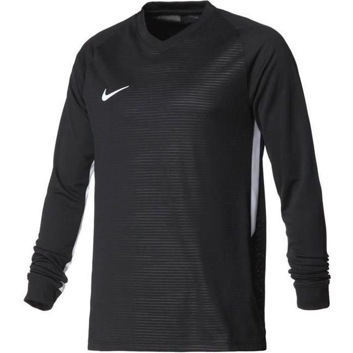 NIKE Maillot de sport Dry Tiempo Premier 100% polyester - Homme - Noir et Blanc