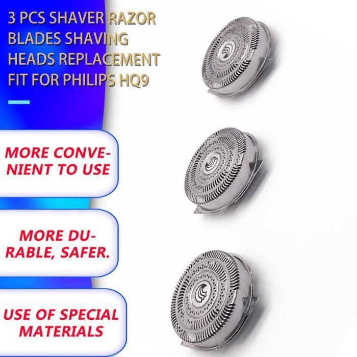 3 pcs rasoir lames de rasoir têtes de rasage remplacement adapté pour Philips HQ9070 HQ9080 HQ8240 - 8260 PT920