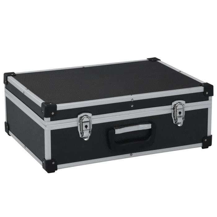 Valise à outils 46 x 33 x 16 cm Noir Aluminium