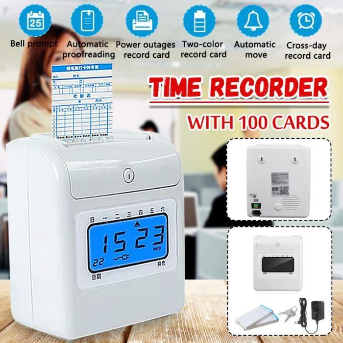 TEMPSA Machine d'assistance Ecran LCD 5 Pouces + 100 Papiers de cartes - PRISE US