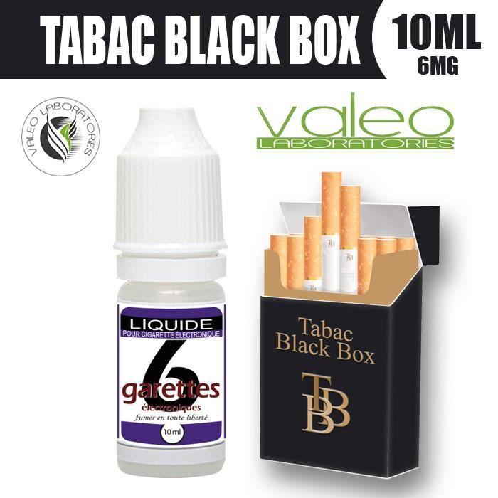 E LIQUIDE 10ML – TABAC BLACK BOX JPS 6mg DE NICOTINE - 6GARETTES