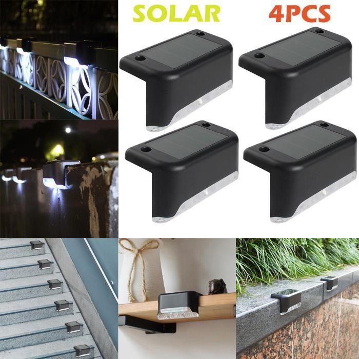 ÉCLAIRAGE INTÉRIEUR ECLAIRAGE INTERIEUR 4pcs LED chemin solaire escali