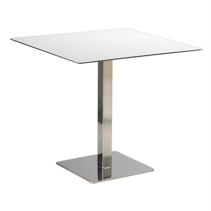 Table int rieur bistrot carr e max en inox achat vente for Table de bistrot pliante