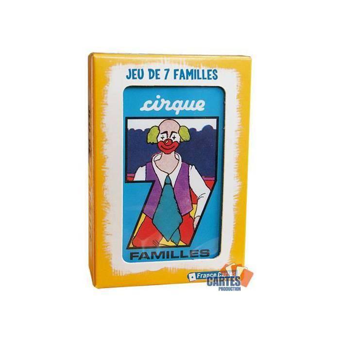 CARTES DE JEU Jeu des 7 Familles Cirque - Jeu de 42 cartes