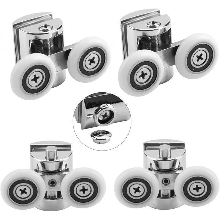 D/&S Vertriebs GmbH Cabine de douche avec roulettes 25 mm