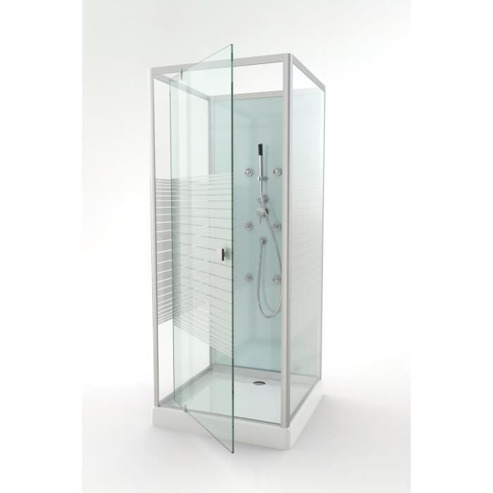 aurlane cabine de douche easy glass 80x80cm achat vente cabine de douche cabine easy glass. Black Bedroom Furniture Sets. Home Design Ideas
