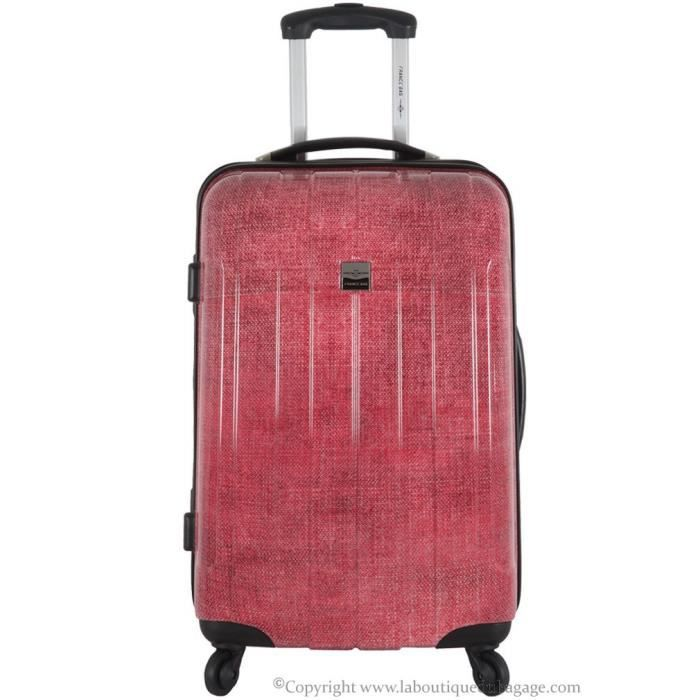 france bag valise rigide moyen s jour cancun rouge jeans rouge achat vente valise bagage. Black Bedroom Furniture Sets. Home Design Ideas