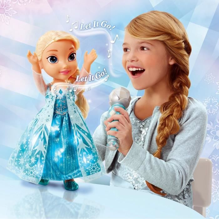 la reine des neiges poup e chante avec elsa 35cm achat vente poup e cdiscount. Black Bedroom Furniture Sets. Home Design Ideas