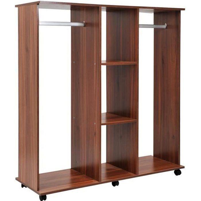 homcom armoire penderie meuble de rangement en panneau de