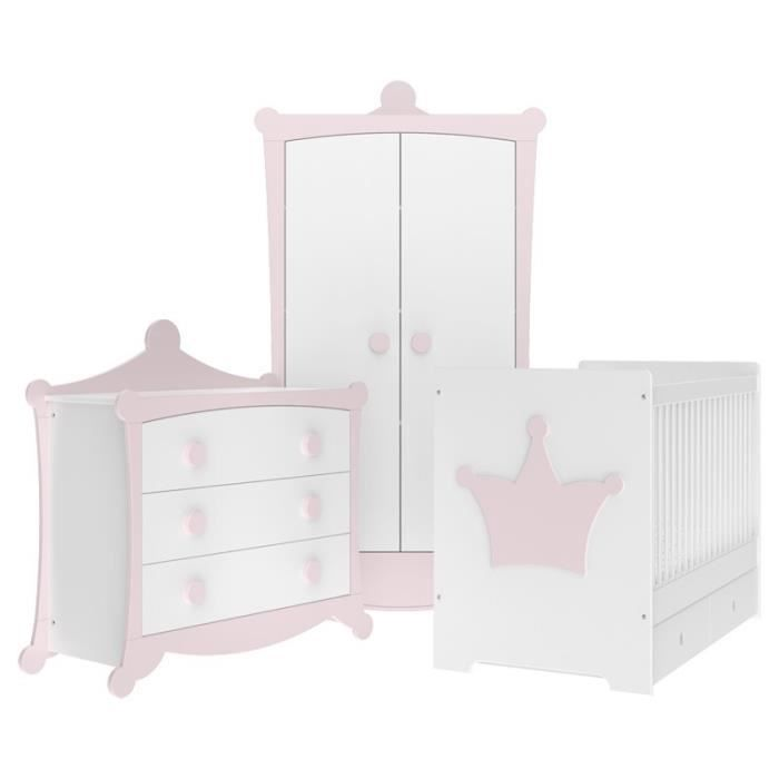 Chambre Bebe Couronne Rose Poudre Et Blanche Direct Usine Made